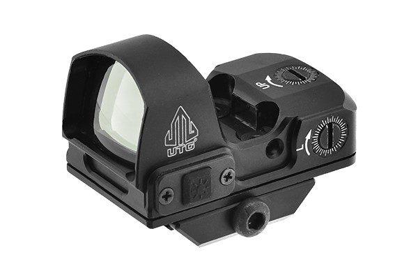 UTG® Reflex Micro Dot, Green 4 MOA Single Dot, Base adaptable